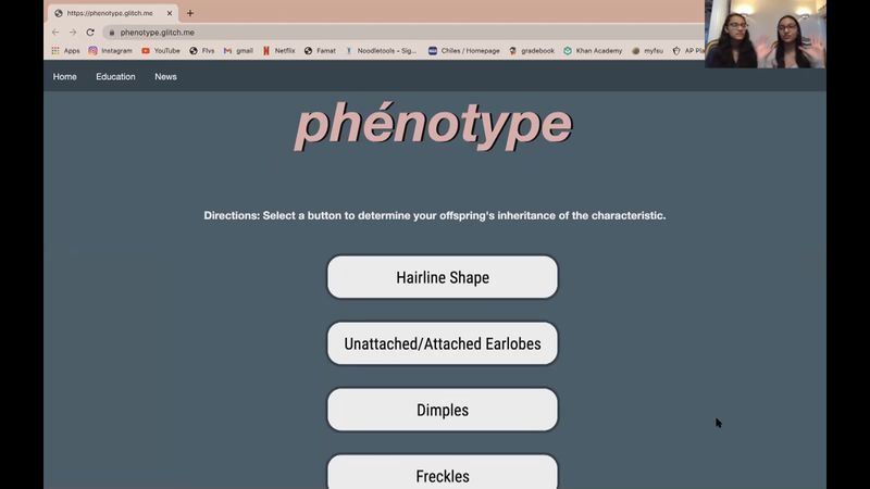 Surabhi and Sandhya Kumar share there Phenotype app, which one the 2020 Congressional App...