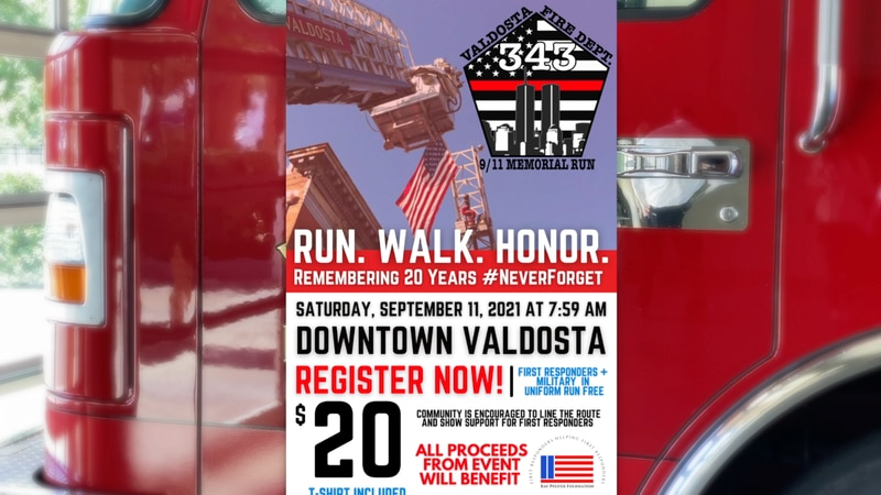 The 5K will recognize the 20th anniversary of the terrorist attacks on September 11, 2001.