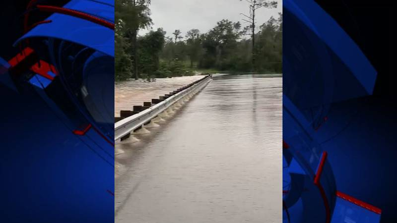 The Calhoun County Sheriff's Office announced road closures around the area due to flash...