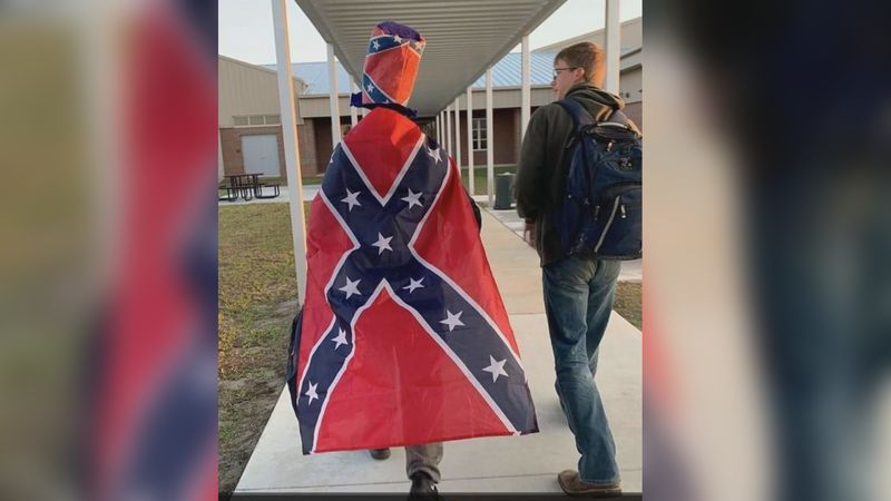 A video circulating social media has gained over 700 views after a student wore a confederate...