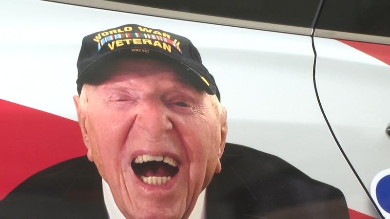 World War II veteran Sidney Walton is starting a nationwide tour to raise money for frontline...