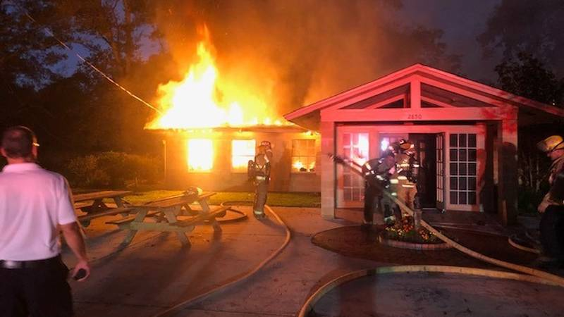Units from the Tallahassee Fire Department responded to a fully-involved fire at Unity Church...