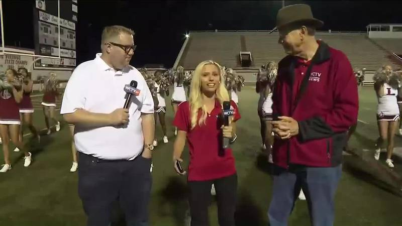WCTV's Art Myers, Michelle Roberts and Ryan Kelly reported live from the Lowndes High football...