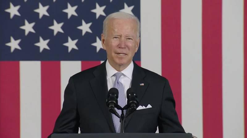 "President Joe Biden said Monday he felt ""very positive"" about reaching agreement on his big..."