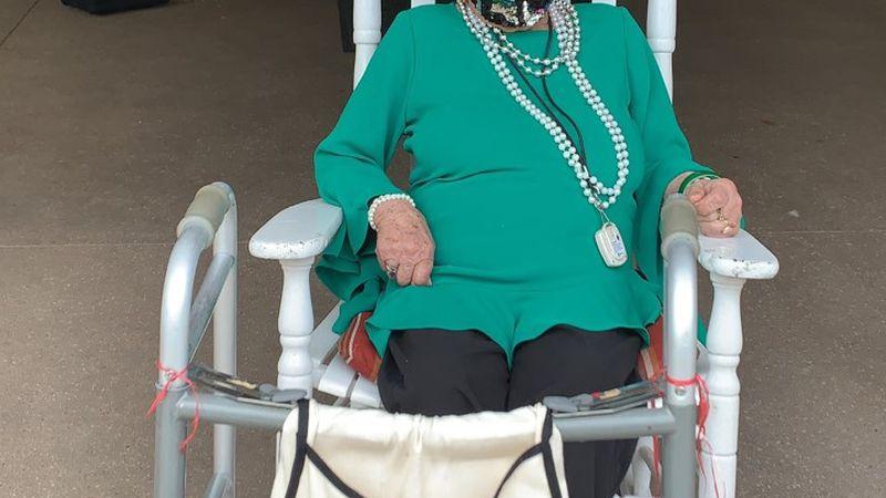 Marks celebrates her 100th birthday