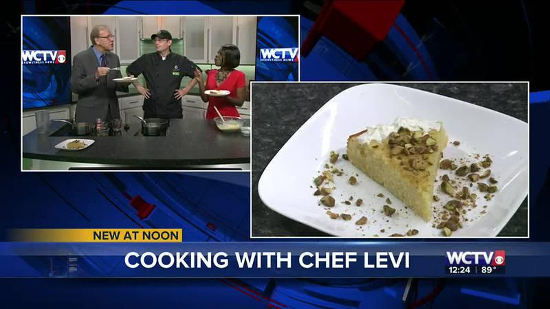 Chef Levi presents Orange-Honey Cake with Pistachios
