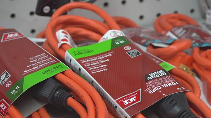 Extension cords for generators are on the must-have list for hurricane preparedness kits