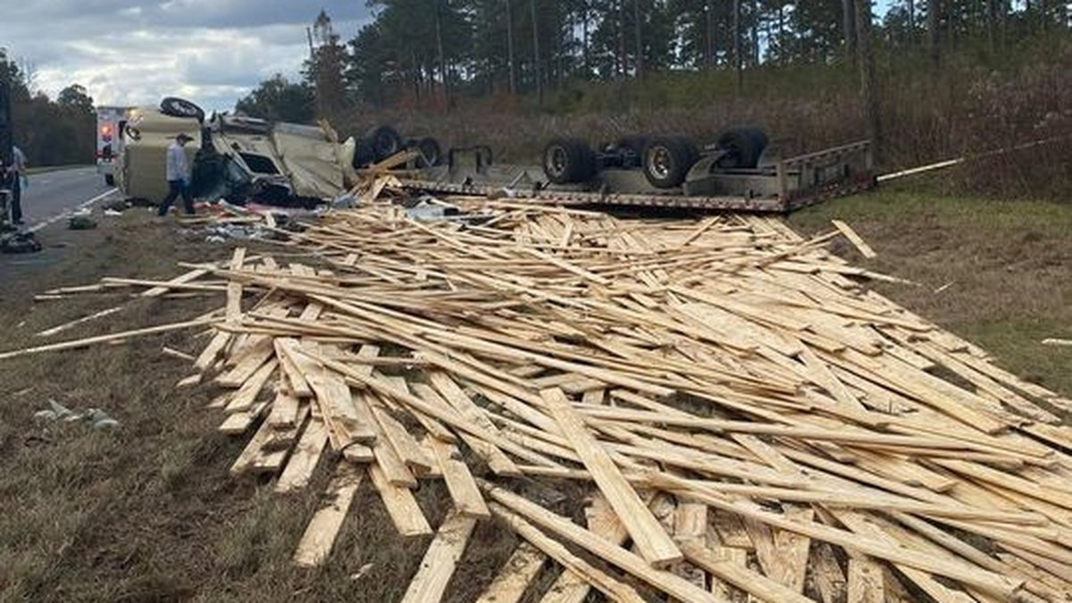 The Florida Highway Patrol says a truck driver fell asleep at the wheel on U.S. Highway 19...