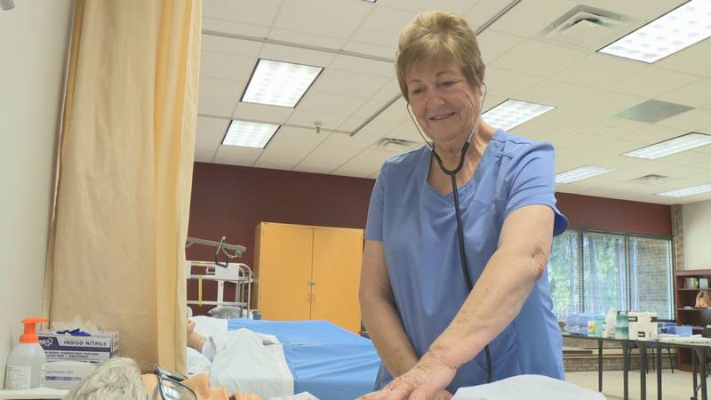 Helen Yates King hadn't been in a classroom since graduating high school in 1960. Now, she's a...
