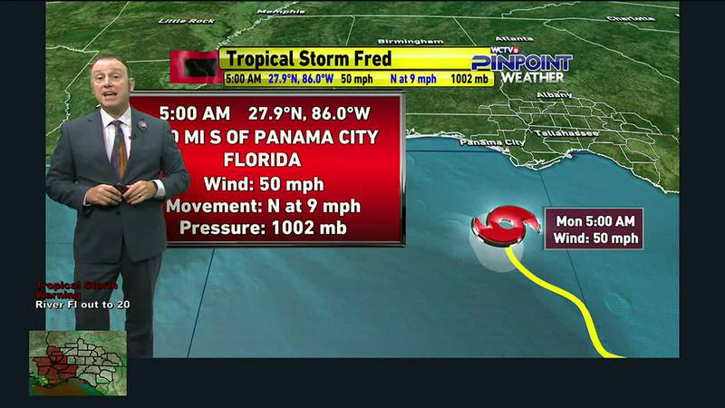 Meteorologist Rob Nucatola has the latest on Fred as of 6:53 a.m. Monday.