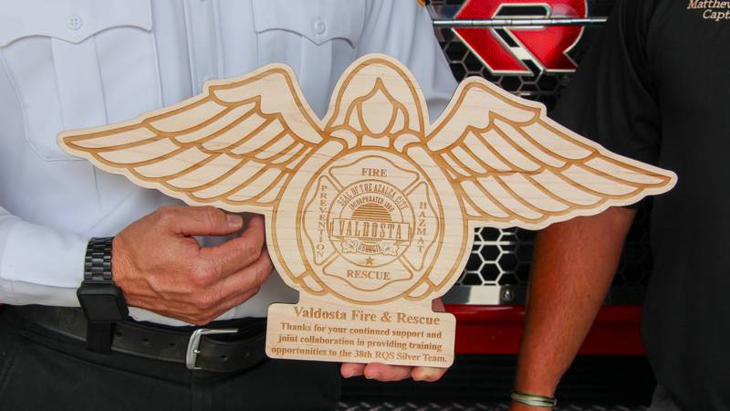 The Valdosta Fire Department has received a new plaque from the Moody Air Force Base 38th...