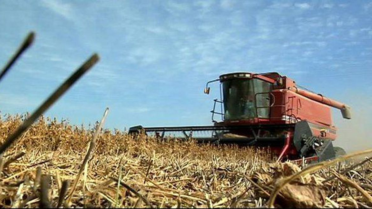 This 2017 photo shows a combine. Minority farmers have maintained for decades that they have...