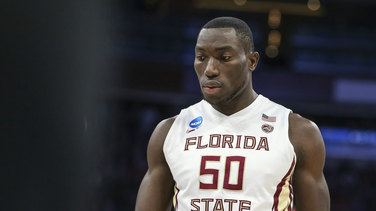 Florida State center Michael Ojo (50)during the first half of the first round of the NCAA...