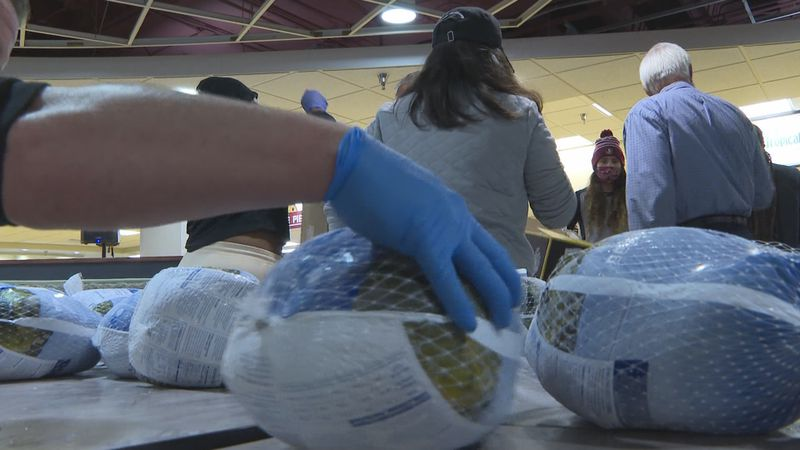 Tuesday morning, students helped pack 200 food boxes for families in need as part of the sixth...