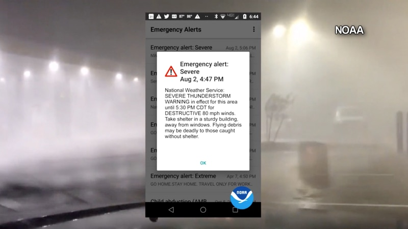 Severe thunderstorm warnings, issued by the National Weather Service, will be sent with tags...