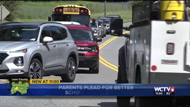 Lack of crosswalks and dangerous traffic concern Desoto Trail Elementary School parents.