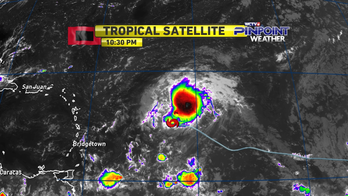 Pinpoint Weather Update - Tropical Storm Josephine - Thursday, Aug. 13, 11 p.m. update