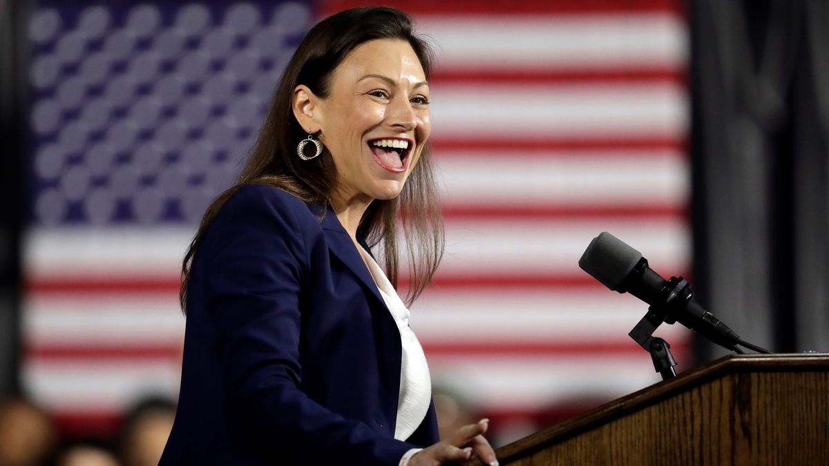FILE- In this Nov. 2, 2019, Nikki Fried, Democratic candidate for Florida Commissioner of...