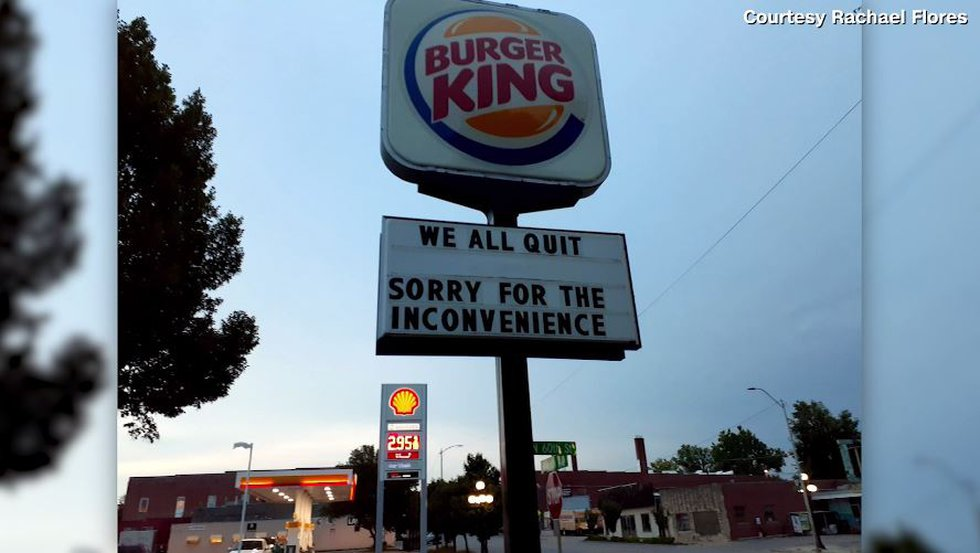 The staff at a Burger King in Lincoln, Nebraska, made a big statement about their jobs on the...