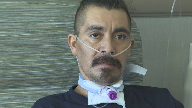 After over a month on a ventilator, Adolfo Montes said he's hoping his story will help others.