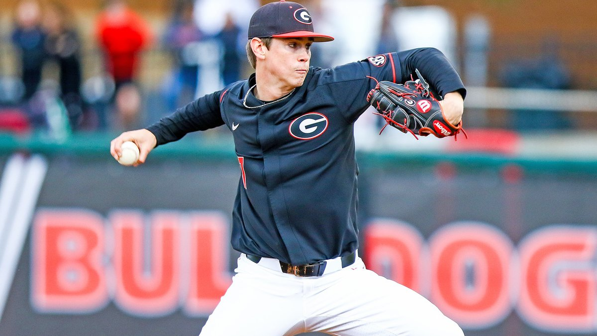 Georgia pitcher Emerson Hancock (17) during a game against Georgia Tech at Foley Field in...