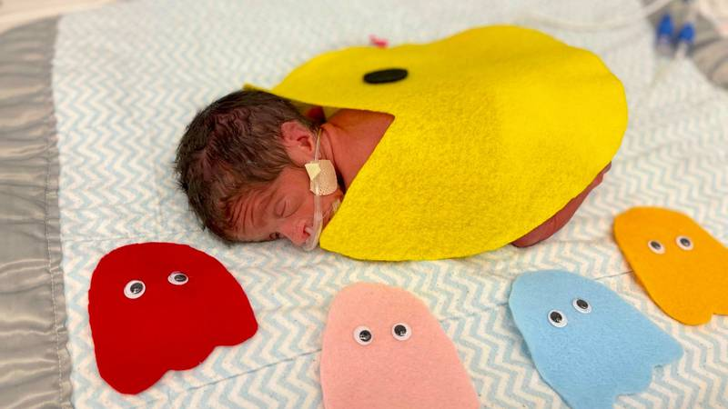 Halloween is right around the corner, so nurses at Tallahassee Memorial HealthCare's NICU unit...