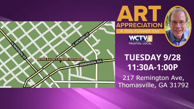 Next Tuesday, Sept. 28, Art and his wife DeeDee will be in Thomasville at one of their favorite...