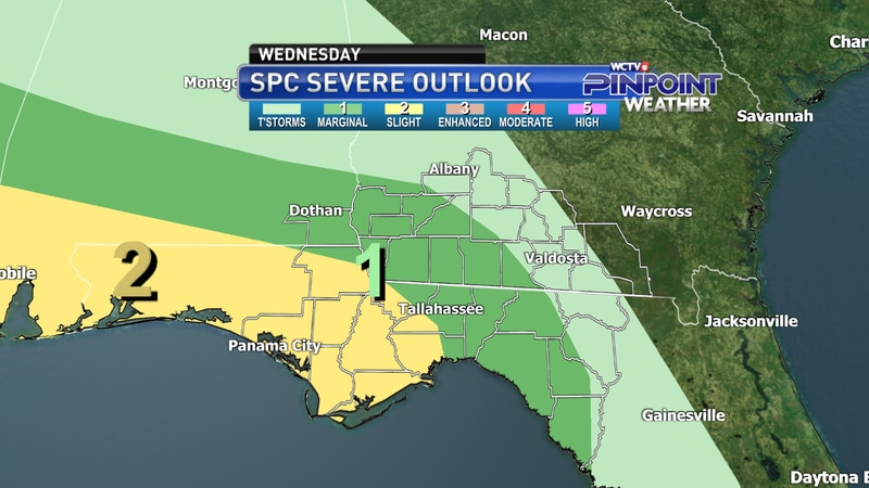 SPC's Severe Weather Outlook for Wednesday, Oct. 27 valid through 8 a.m. ET Thursday.