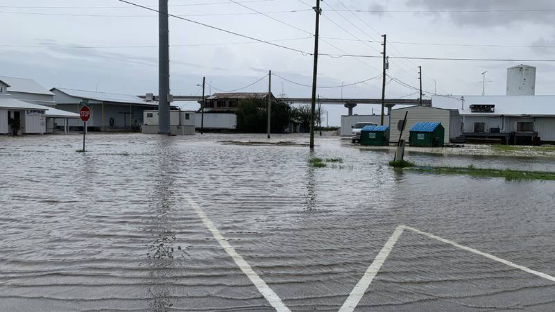 Sally's heavy rains caused flooding in Apalachicola Wednesday. This is Forbes and Water Street.