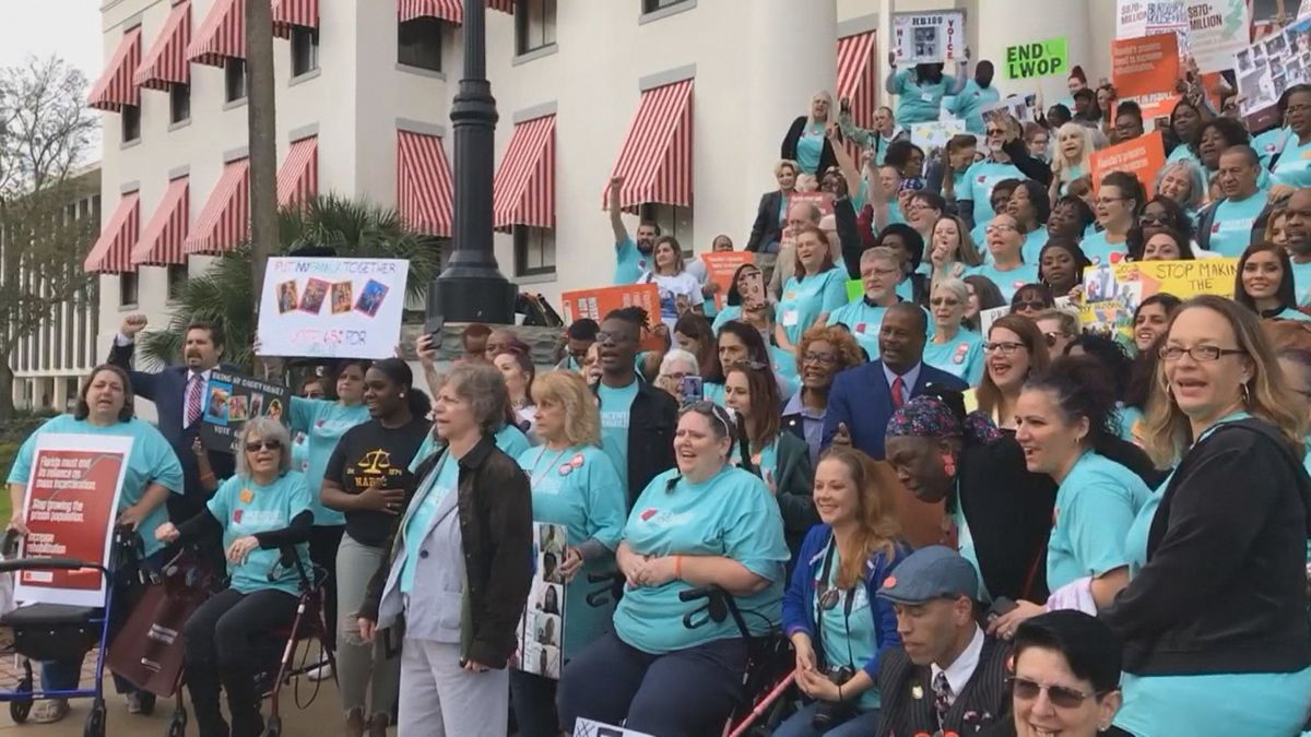 Civil rights groups and advocates pushing for criminal justice reform rallied at the Florida...