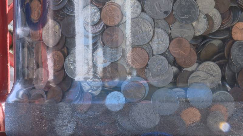 A Tallahassee couple has donated five years worth of pocket change to help those in need.