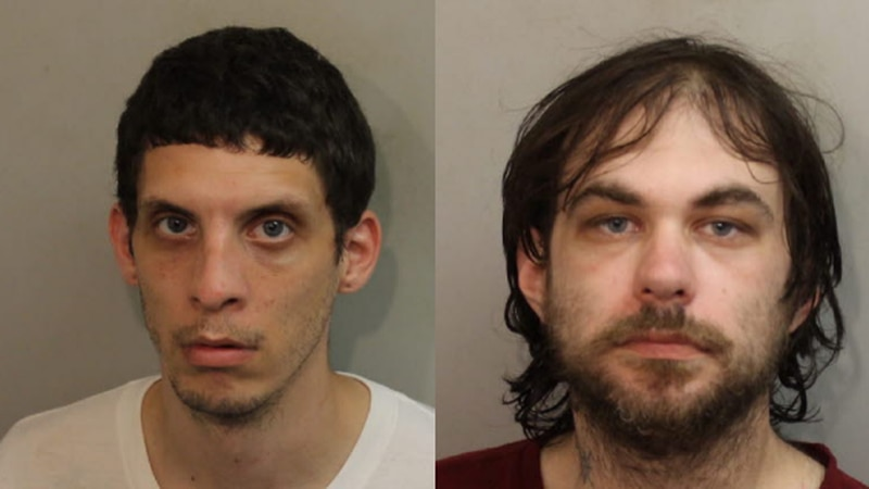 The suspects were identified as Steven Carpenter (right) and James Ward (left).