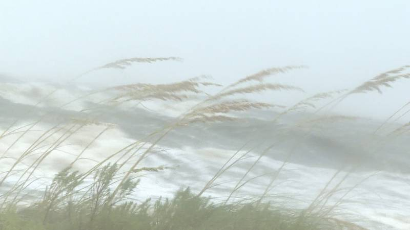 White-capped waves crashed along Carrabelle's beach Monday afternoon, with some visitors saying...