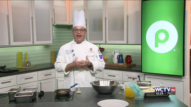 Chef Albert Schmid from Keiser University showed off his potato pancake recipe on the WCTV set.