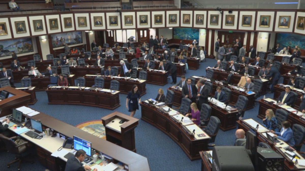 A wide shot of Florida's legislature chamber. (FL State Legislature)