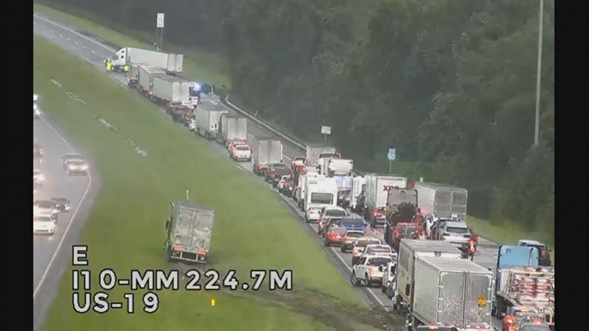 The Florida Highway Patrol is on the scene of a crash on I-10 eastbound at mile marker 225.