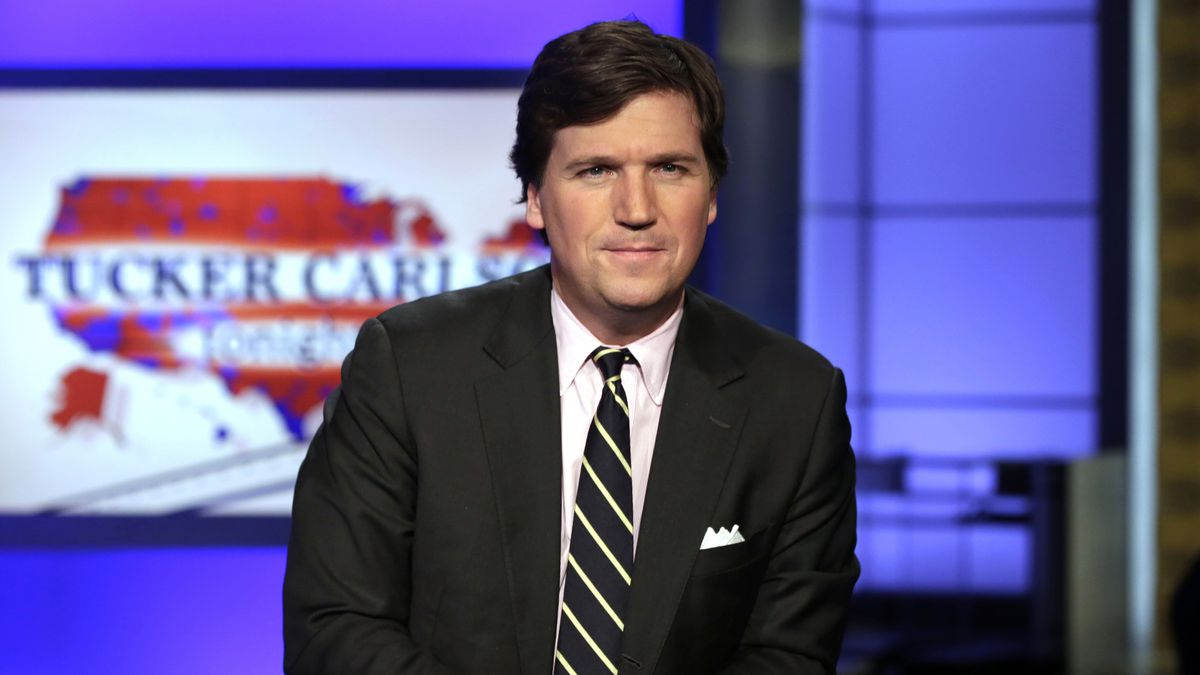 "In this March 2, 2017 file photo, Tucker Carlson, host of ""Tucker Carlson Tonight,"" poses for..."