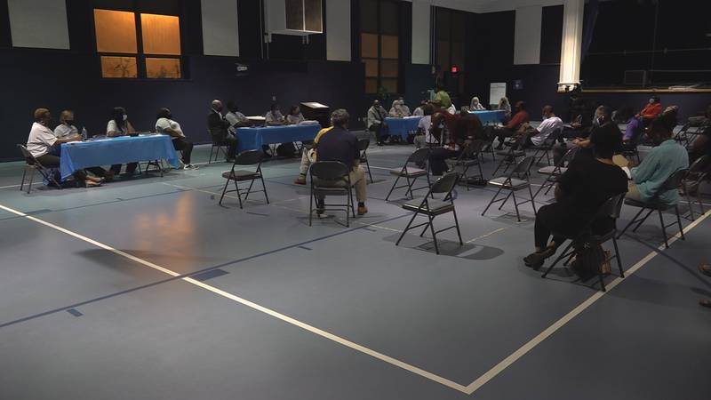 Members of the community gathered at the Citizens Advisory Council to discuss recent violence.