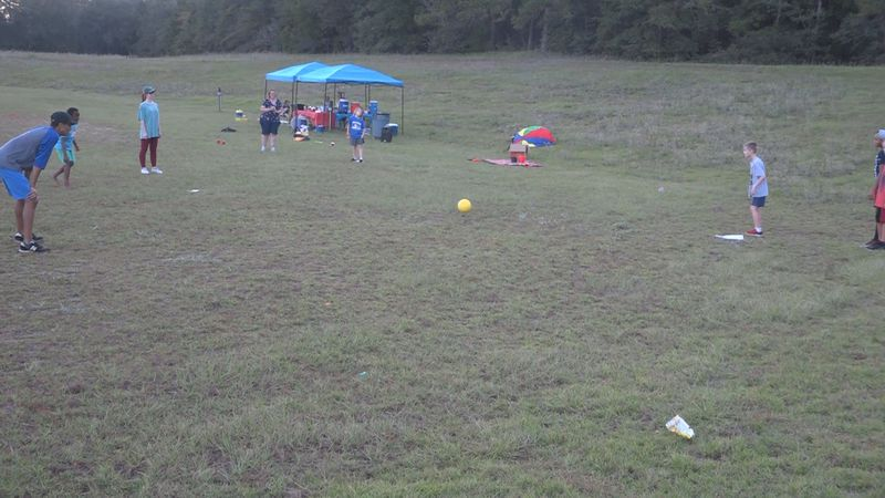 Kids at Northwoods Church Tallahassee enjoyed a game of kickball at Sunday's field day.