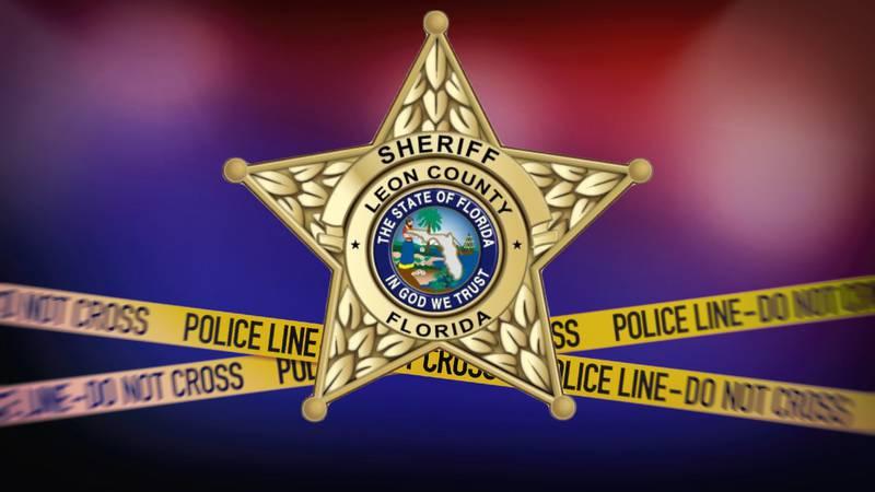 Leon County Sheriff's Office logo and crime scene tape