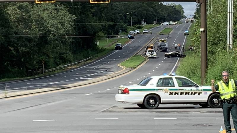 The Florida Highway Patrol says two people are dead after a fiery crash Monday morning between...