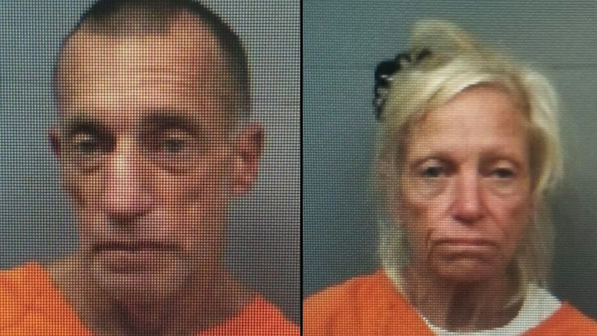 Douglas Morin (left) and Linda Burkard (right) were arrested in connection to Saturday...