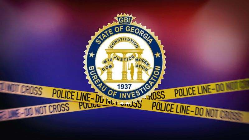 Georgia Bureau of Investigation (GBI) logo and crime scene tape