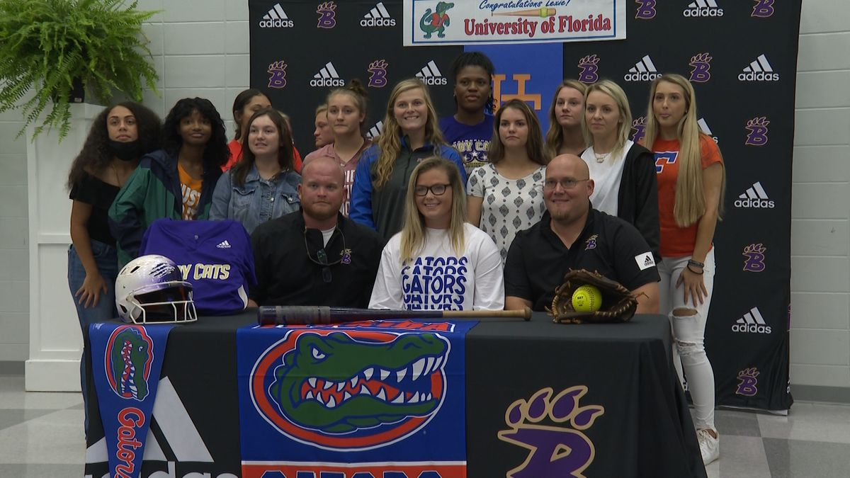 Bainbridge pitcher Lexie Delbrey signed to play college softball at the University of Florida.