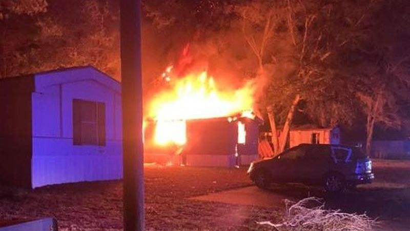 The Brooks County Fire Department says it responded to a fire inside the Oakridge Mobile Home...