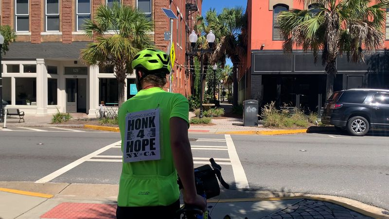 Wednesday, Patrick Diederich traveled about 70 miles, from Waycross to Valdosta.