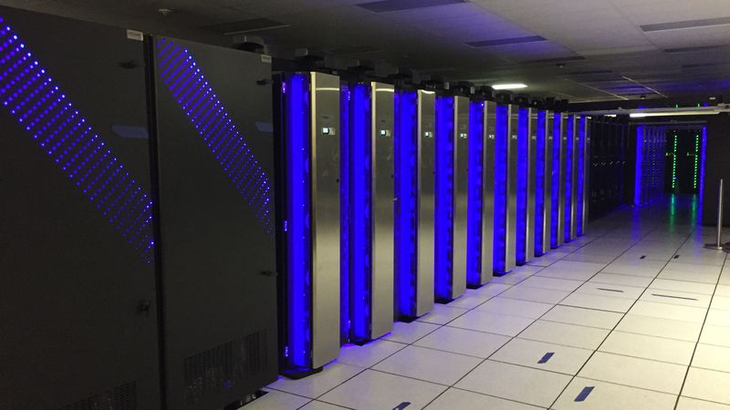 The Dell NOAA weather and climate operational supercomputing system at a data center in ...