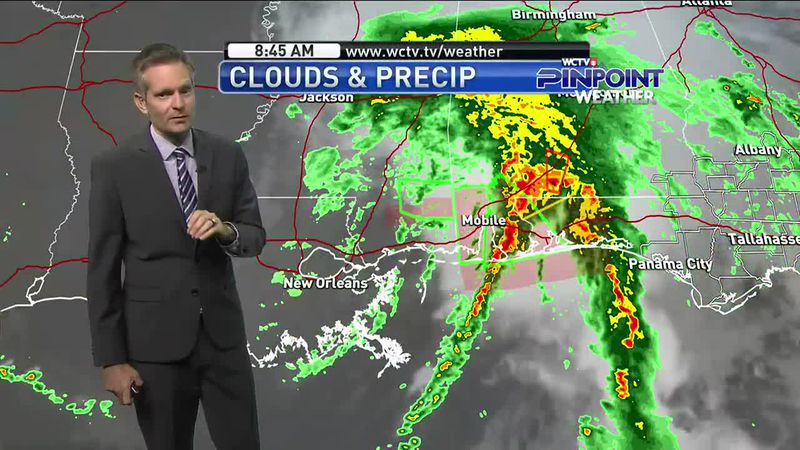 Tropical Storm Claudette formed Saturday morning, but the forecast remains the same with rain...