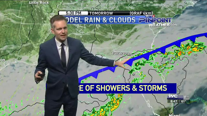 Showers moved thorough the area Saturday morning, but there is a threat of more rain and a...