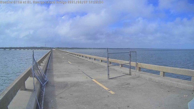 After a thief broke into the WeatherSTEM unit on the St. George Island bridge station early...